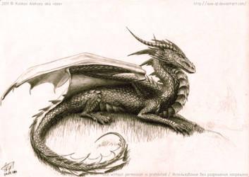 dragon on a hill_Ph by axe-ql
