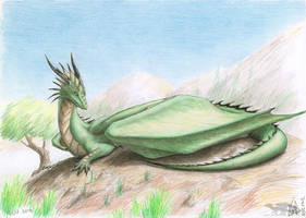 120712 green random dragon by axe-ql