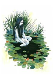 Sorrow in the Black Water by panijeziora