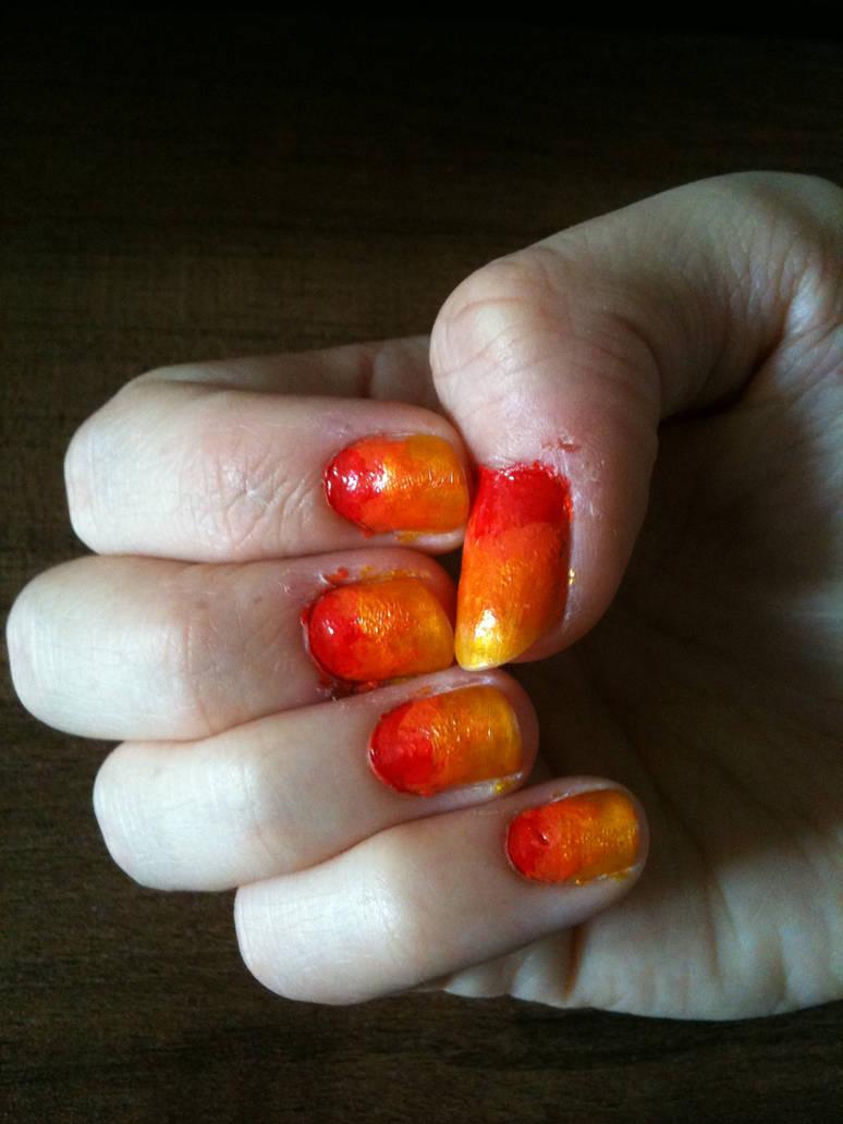 Flame Nails by GRexCarolinii on DeviantArt