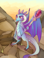 Ember the dragon lord! by HeadphoneHijack