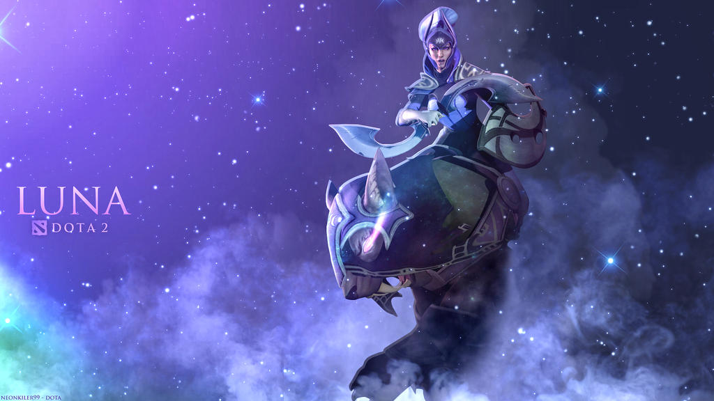 Luna - The Moon Rider   DOTA 2 by neonkiler99Viper Dota 1
