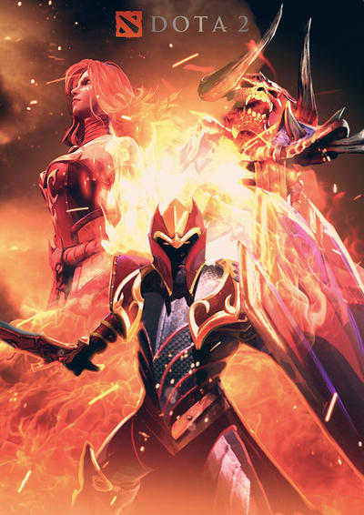 dota 2 the heroes of fire by neonkiler99 on deviantart