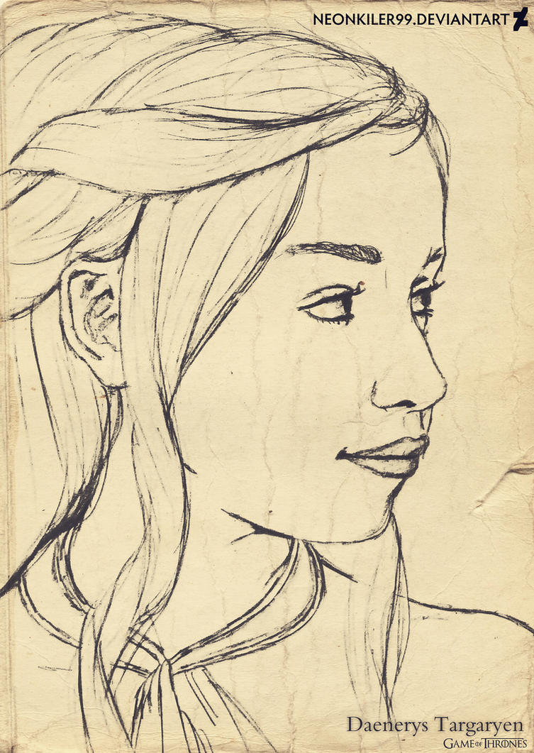 Daenerys Targaryen - Games of Thrones drawing by neonkiler99