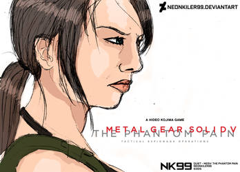 QUIET DRAWING - MGS V: The Phantom Pain by neonkiler99