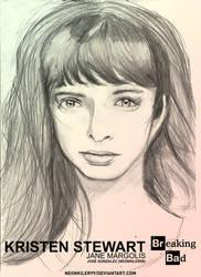 Krysten Ritter (Breaking Bad) Drawing by neonkiler99