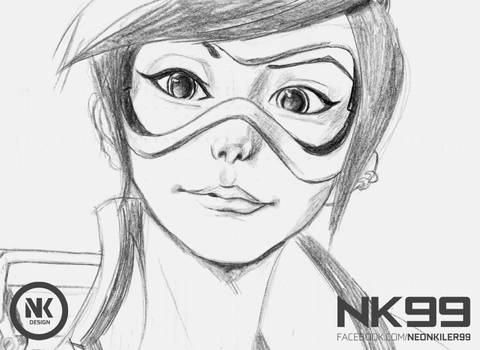 Tracer Overwatch Drawing by neonkiler99