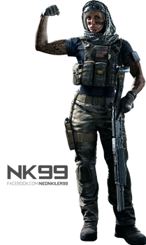 Rainbow Six Siege - Valkyrie Operator Render