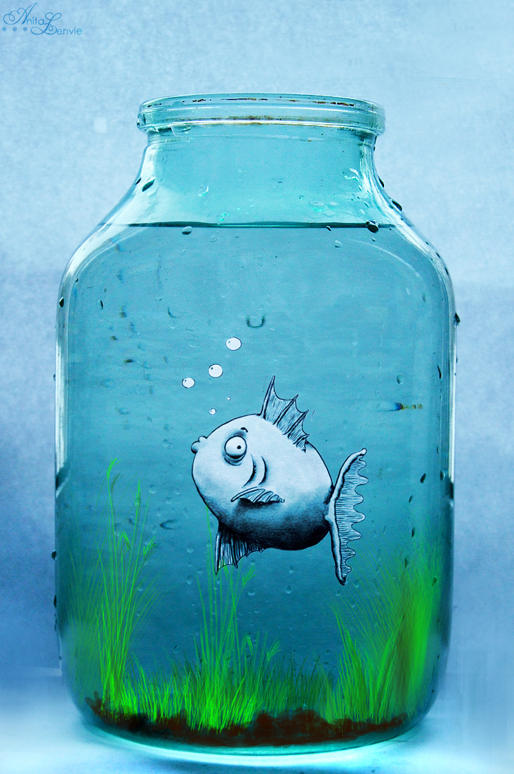 Fish in jar by anitkart on deviantart for Fish in a jar