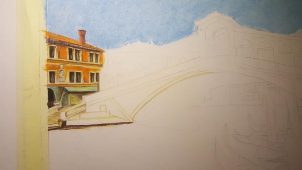 Rialto Bridge Venice WIP 1 by MariaIla