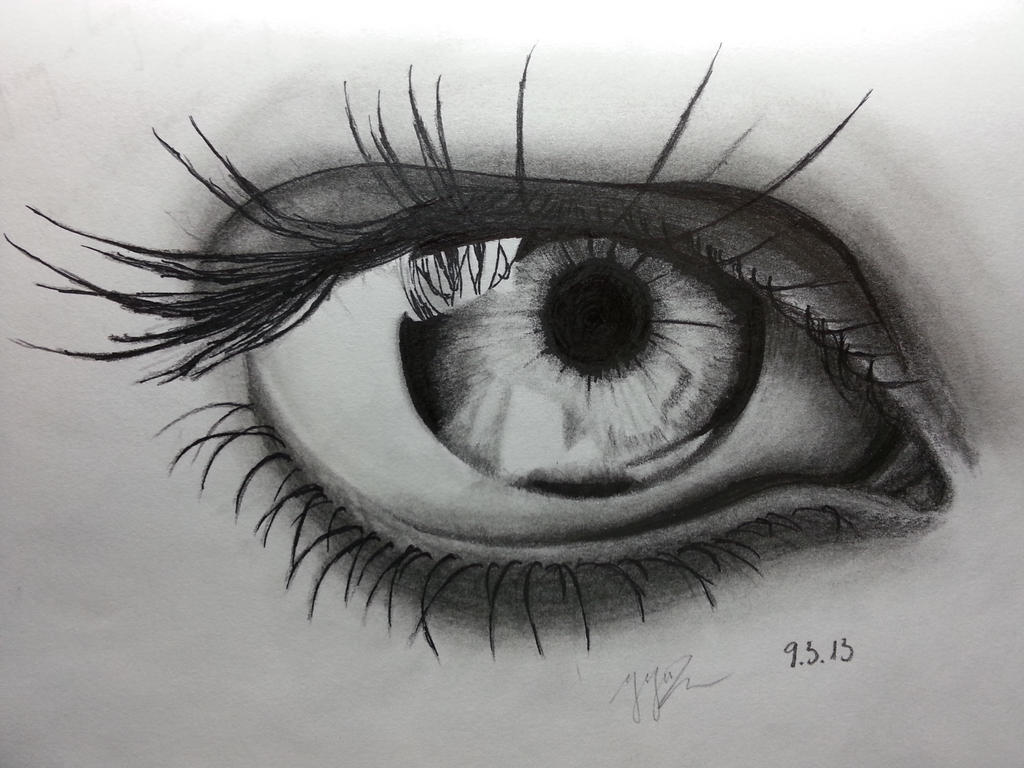 Pencil drawing eye by ozastark on deviantart - Eye drawing wallpaper ...