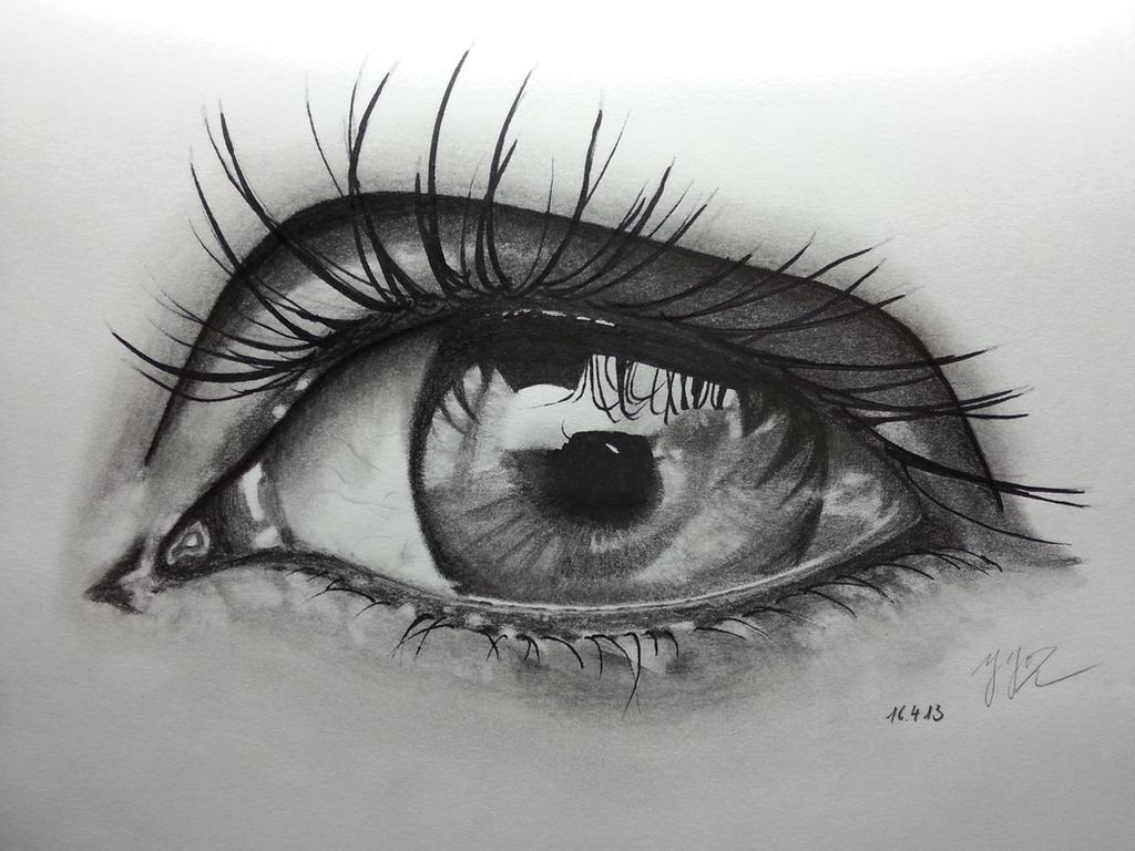 Pencil sketch eyes