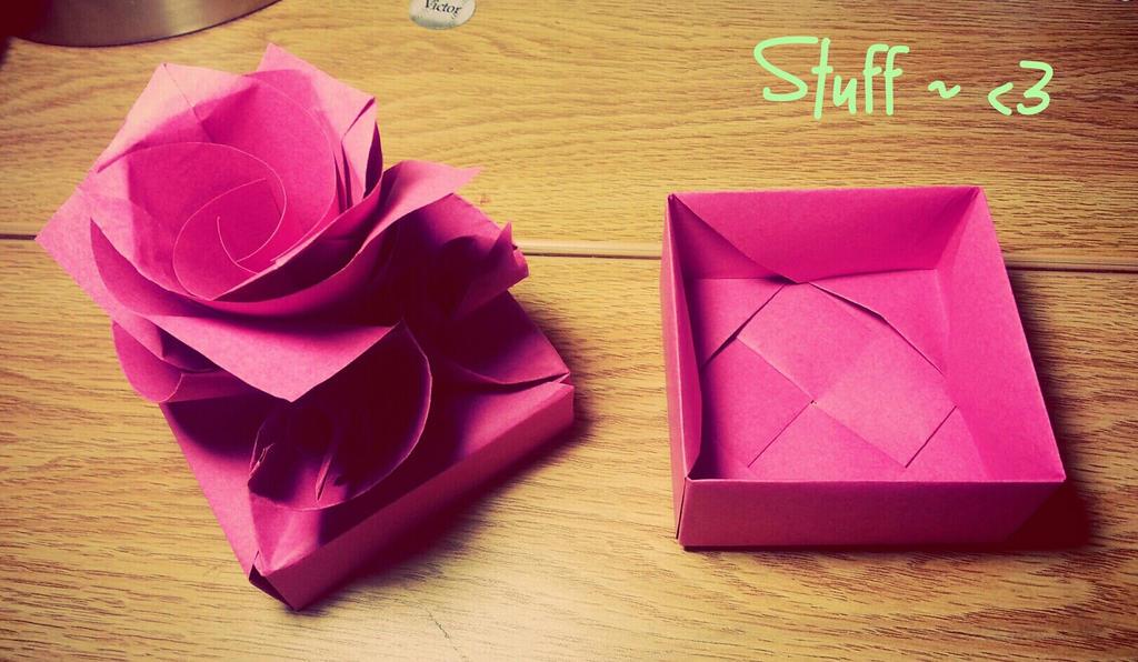 Origami Valentine Rose Box Origami Tutorial Lets Make It