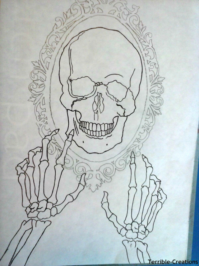 Skull Frame drawing I\'ve been working on. by Terrible-Creations on ...