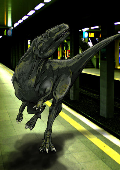 Dinosaur and the Underground by Hirschpiel