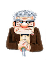 Carl- Pixar's Up by phychoticsilence