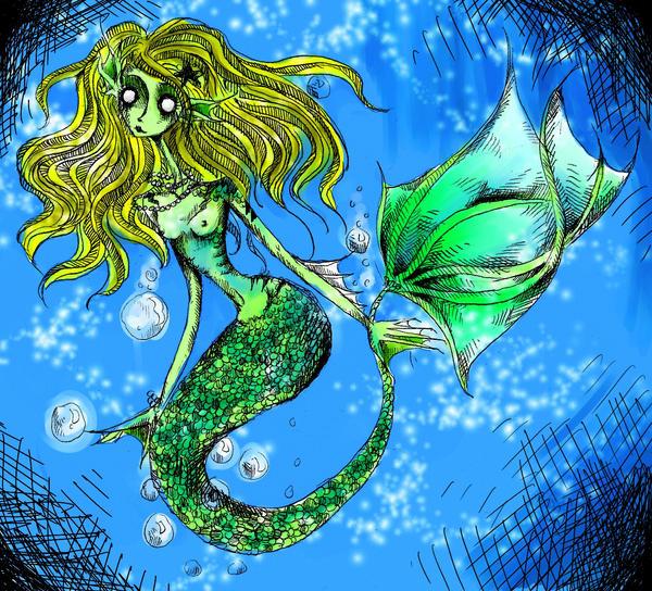 Mermaid Colored by KennedyxxJames