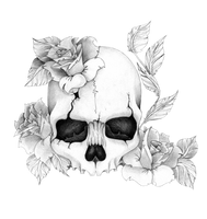 Skull'n'roses by Skrzynia