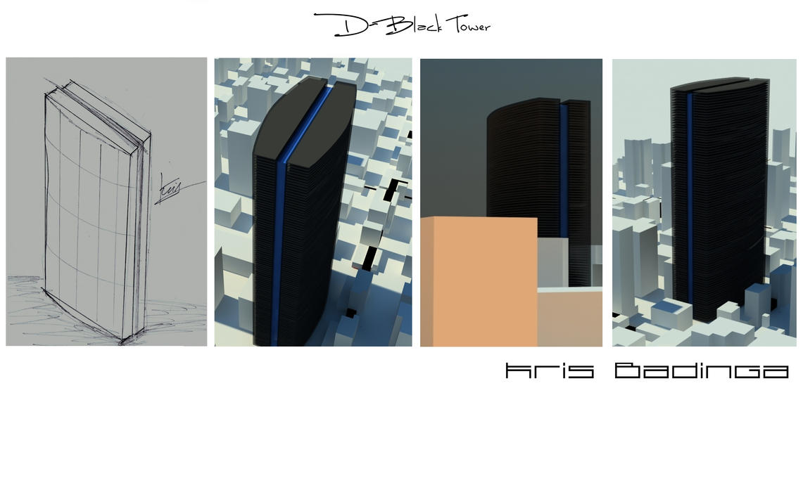 Double black tower concept by kris-badinga