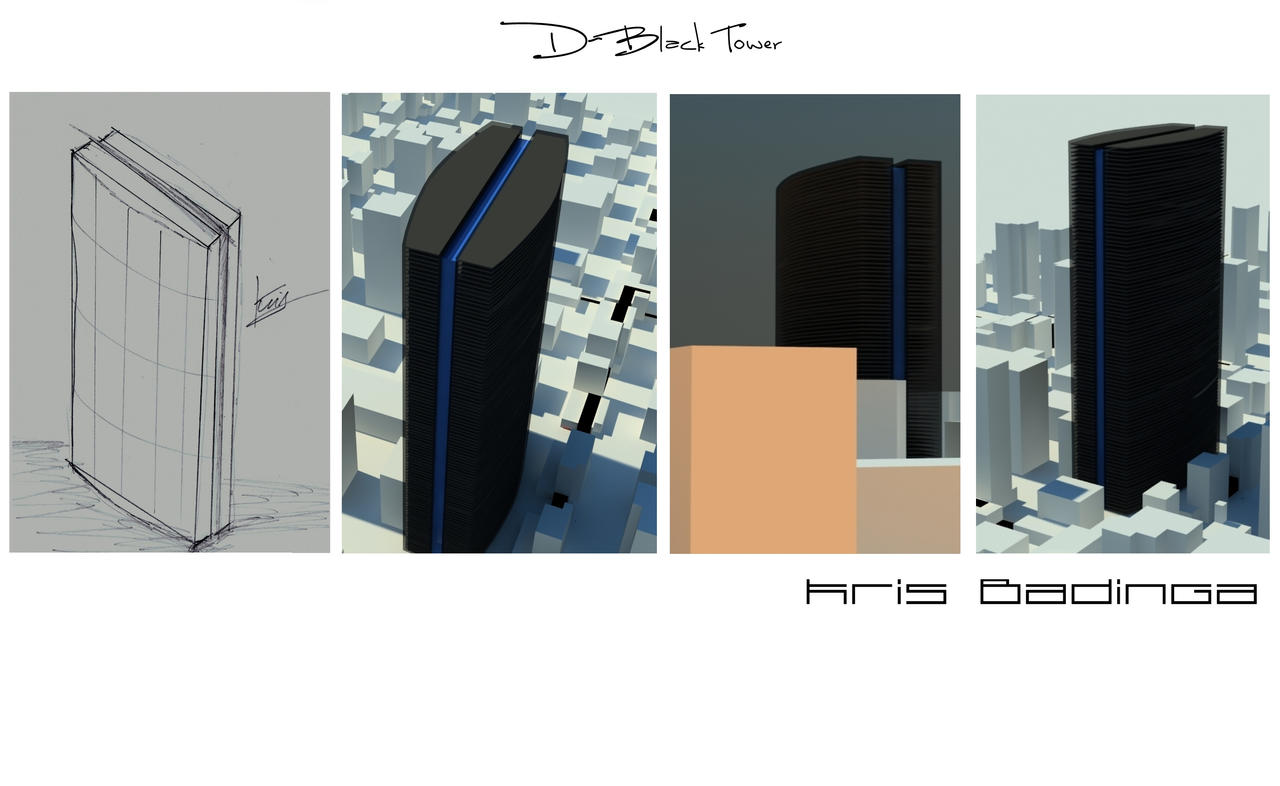 Double black tower concept by kris-badinga