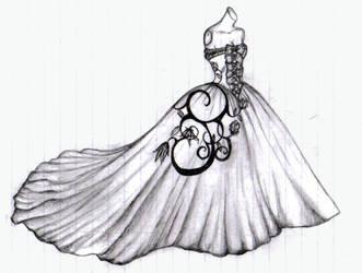 Rose Wedding Dress by WednesdaySiren