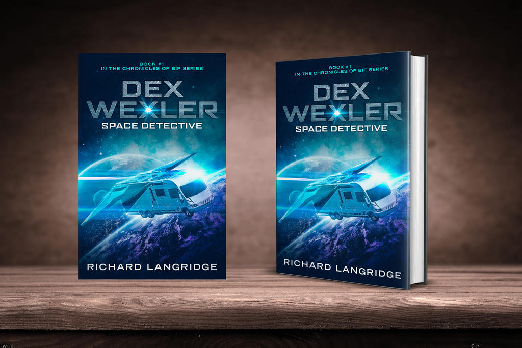 Dex Wexler book cover design by Miblart