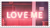 LOVE ME stamp by aestheticstamps