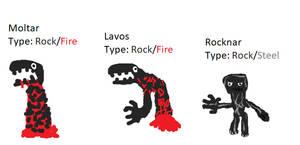 Rocknar line Pokedex by Cutiesaurs