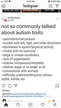 Lesser known autism facts