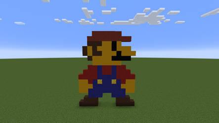 Pixel art Mario in Minecraft