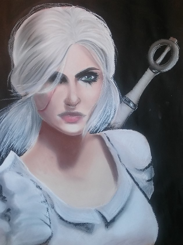 Ciri sketch by Evanlyn