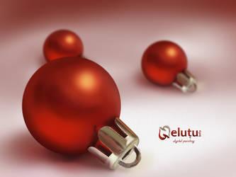 Christmas ball - Digital paint by nelutuinfo
