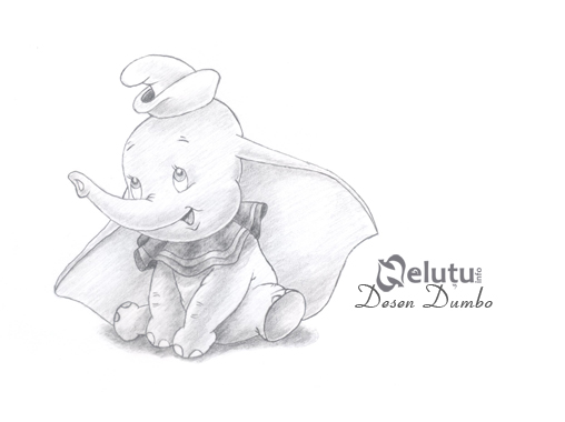Dumbo pencil drawing by nelutuinfo