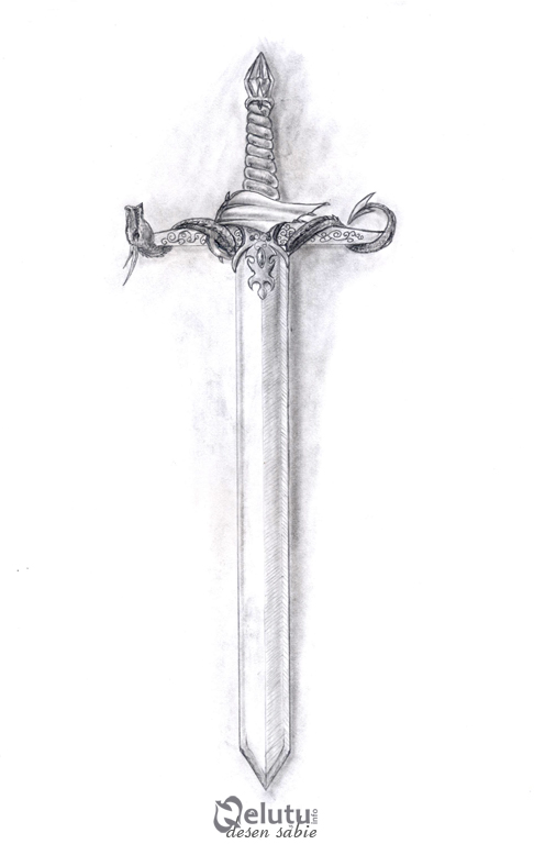 Sword pencil drawing by nelutuinfo on deviantart for Sword tattoos tumblr
