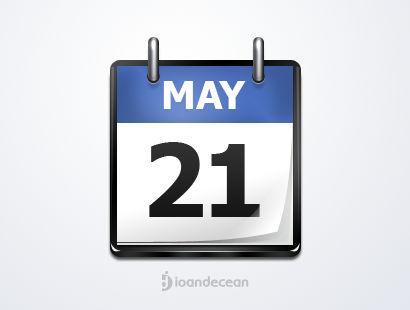 calendar icon - free psd