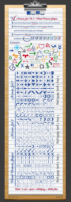 Arrows and Hand Drawn Shapes and Custom Symbols