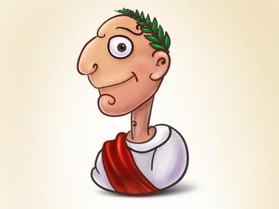 caesar cartoon digital painting by nelutuinfo