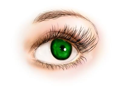eye - digital painting by nelutuinfo