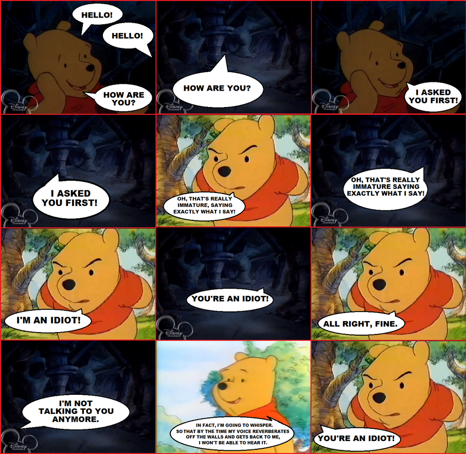 Winnie The Poohs Funny Echo By Pikachu Train On Deviantart