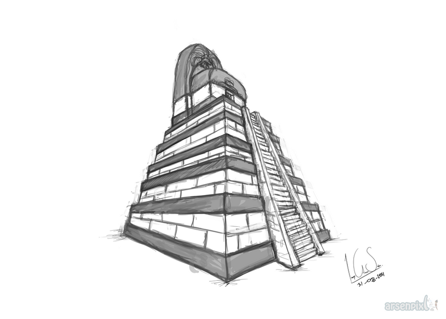 how to draw a pyramid net