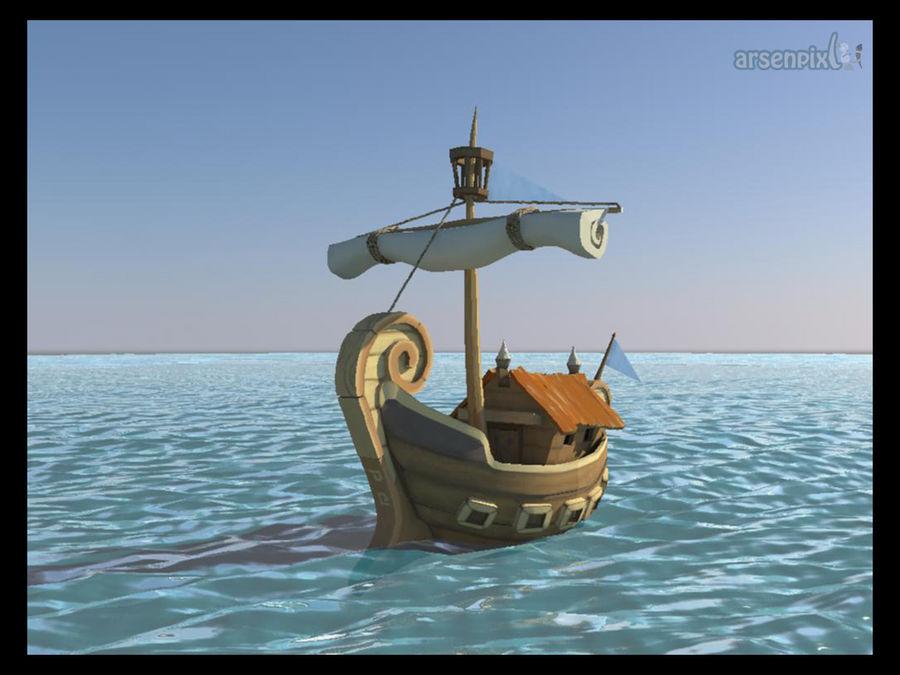 Merchant Greek Ship - animation