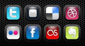 Jet Black Social Media Icons
