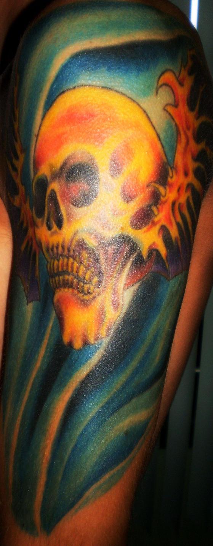 deathbat tattoo by marcogates on deviantart. Black Bedroom Furniture Sets. Home Design Ideas