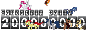 Equestria Daily 200 million hits banner