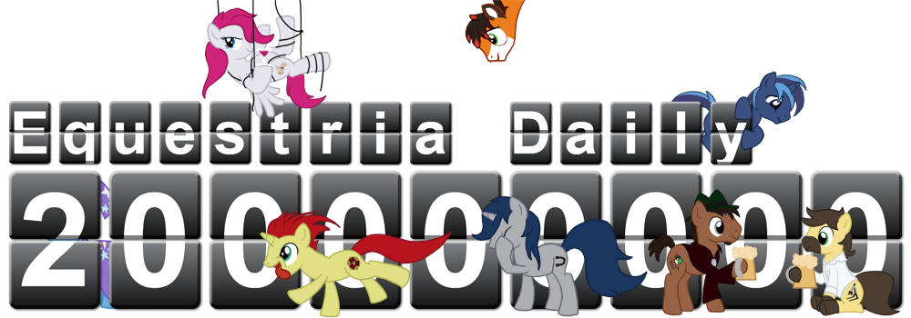 Equestria Daily 200 million hits banner by MadderMike