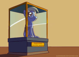 Derpy in the museum by MadderMike