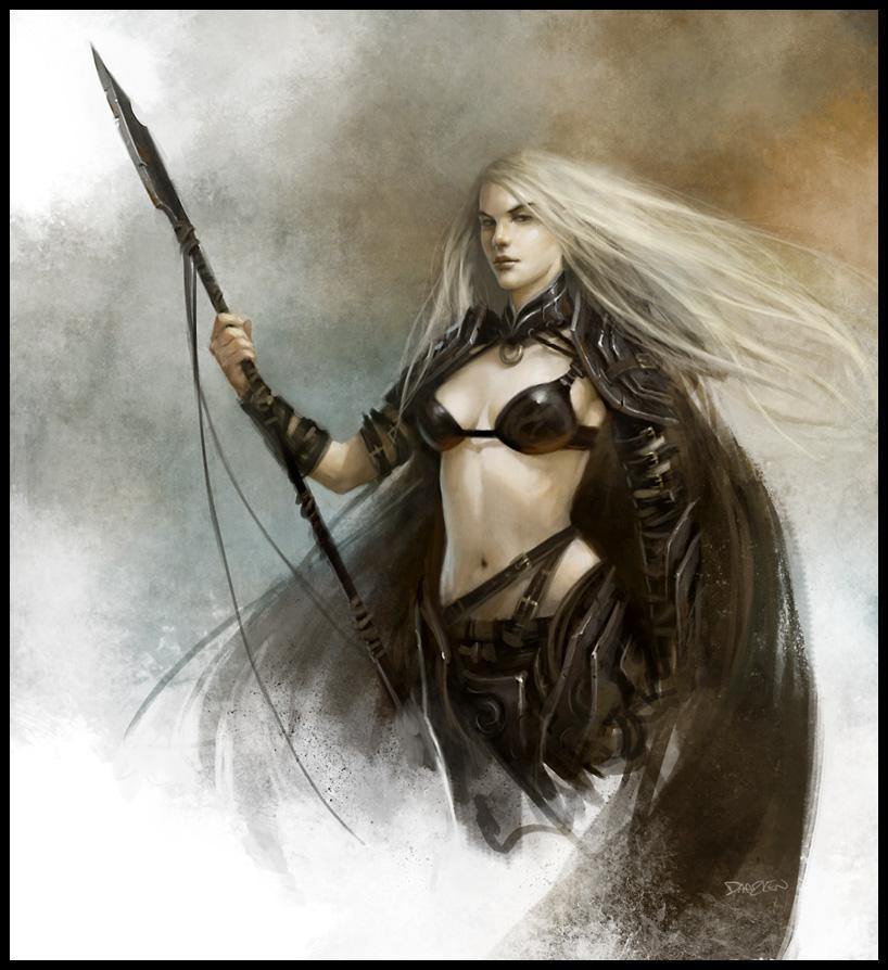 Female Hunter by daarken