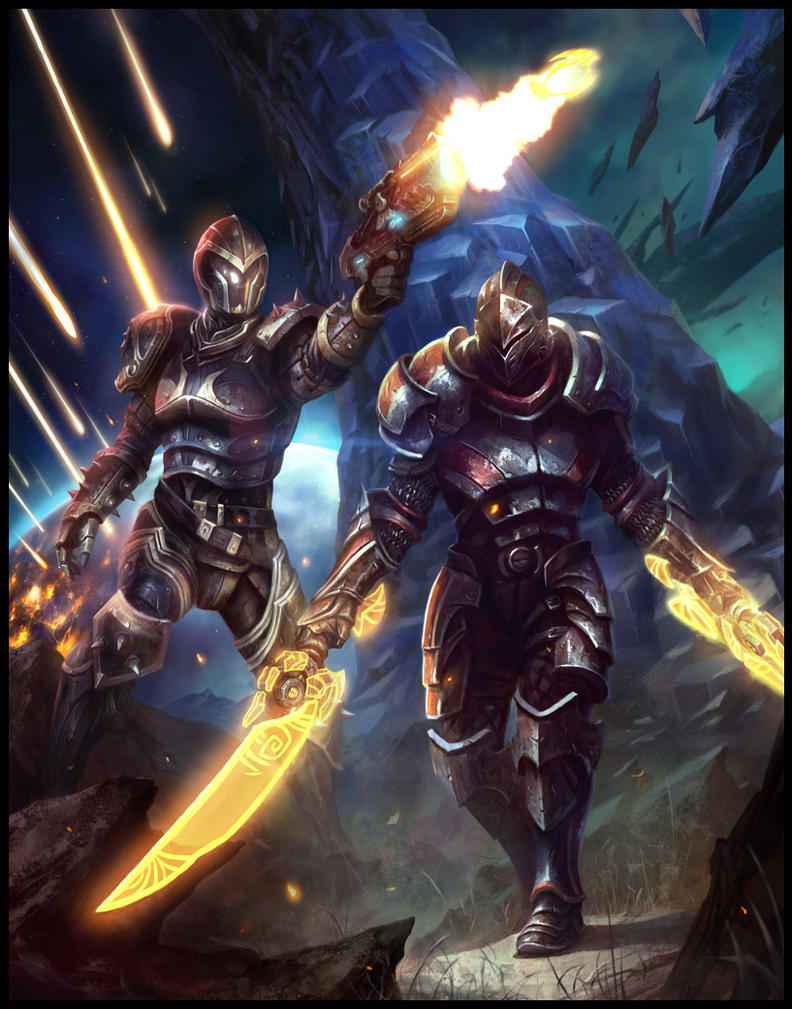 Mass Effect 3 and Kingdoms of Amalur Promo by daarken
