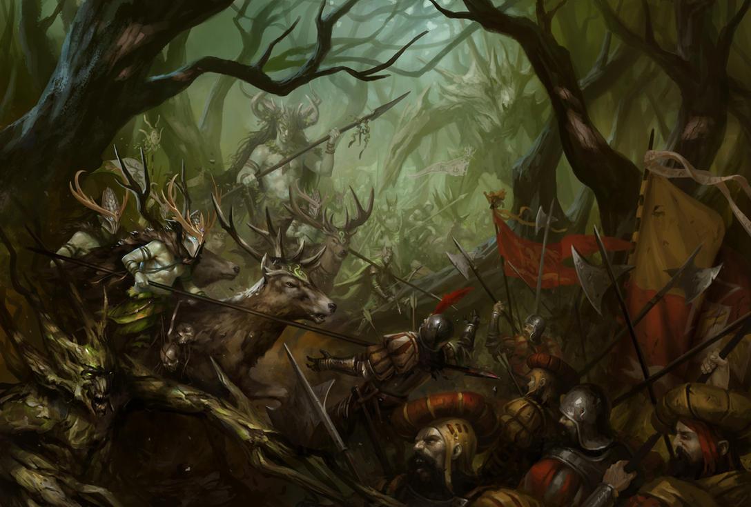 [Warhammer Fantasy Battle] Images diverses - Page 3 Wood_elves_by_daarken-d7o3n6f