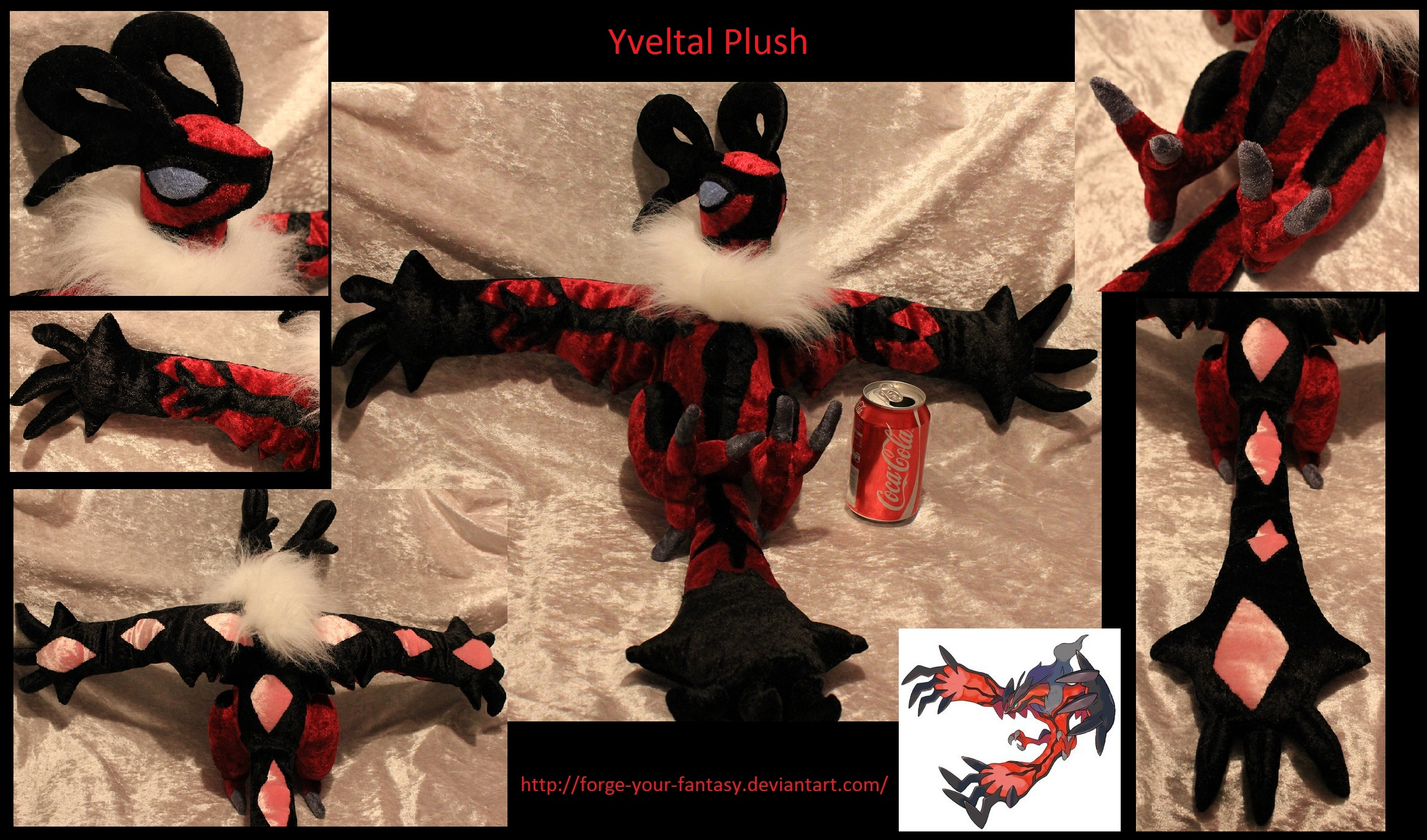 Yveltal Plush - SOLD by Forge-Your-Fantasy